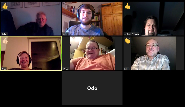 Treffen im virtuellen Vereinsheim