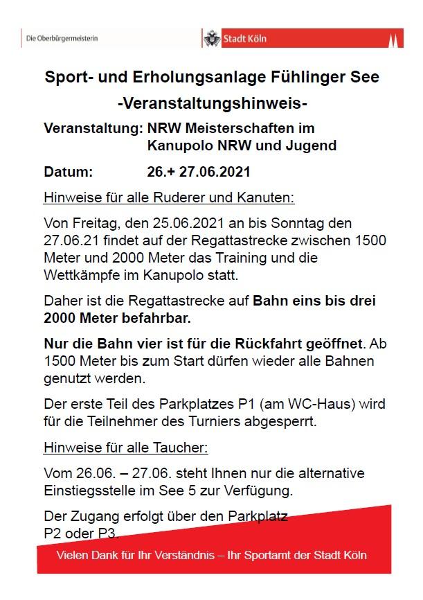 26./27.06 Alternativer Einstieg Fühlinger See